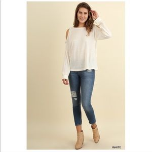 Tops - Cold Shoulder Blouse Long Sleeve S/M/L NEW